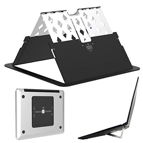 Ordenador portátil Estar Tableta Estar Plegable Portátil Ventilado Escritorio Ordenador portátil Poseedor Ajustable Multiángulo Estar por 13-17 pulgadas MacBook, Lenovo, Computadora portátil (Black)