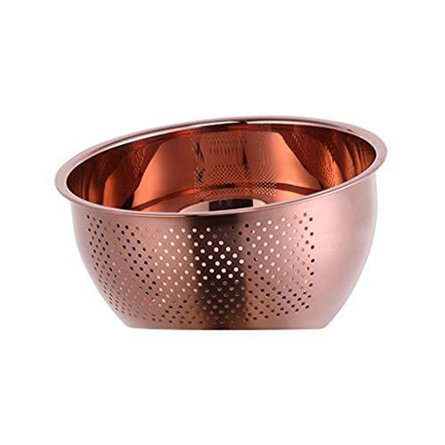 FOLODA Colador de cocina, colador de acero inoxidable, cesta de drenaje para cocina, verduras, almacenamiento de frutas, lavabo, bandeja de drenaje