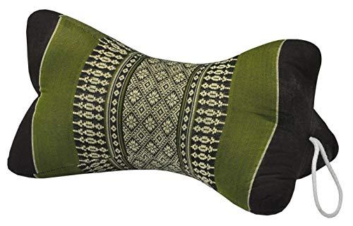 Fine Asianliving Thai Nackenkissen Nackenstütze 18x32cm Yoga Meditation Kapok Grün Meditation Matte Matratze Boden-Liege-Matte Sitzkissen 301-K02