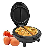 Geepas 1000W Omelette Maker – Dual Electric Non-Stick Egg Cooker – Automatic Temperature Control & Power Light – Multi Cooker for Omelettes, Fried, Poached & Scrambled Eggs – 2 Year Warranty