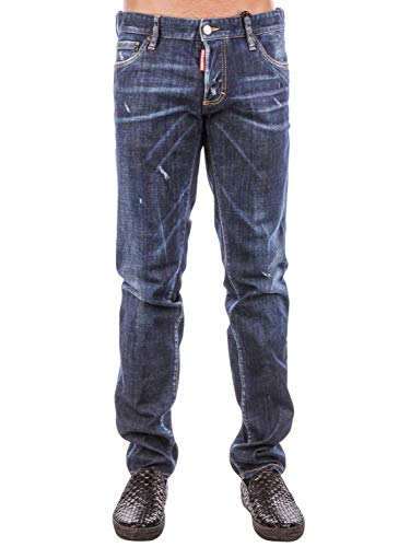 DSQUARED2 Luxury Fashion Uomo S74LB0131S30342470 Blu Jeans | Stagione Outlet