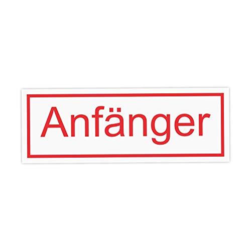 easydruck24de Auto-Magnet-Schild Anfänger I 20 x 7 cm I Vorsicht Achtung Fahranfänger I für Kfz Auto LKW I wetterfest, magnetisch I hin_443