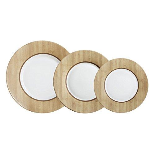 Luminarc Nordic Alpaga - Vajilla, Marrón/Blanco, 18 piezas
