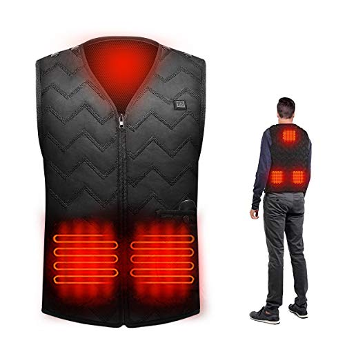 Heated Vest with Battery Pack Electric Heated Vest Jacket USB Charging Washable Warm Waistcoat for Women Men Outdoor Fishing Riding Golf Hunting