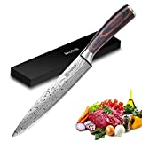Slicing Carving Knife - PAUDIN Razor Sharp Sashimi Knife, 8 Inch Nonstick Sushi Knife, High Carbon...