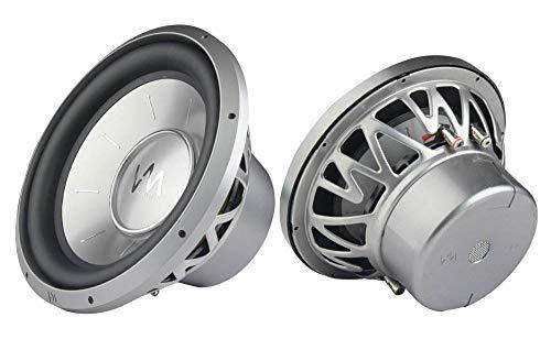 vm audio car speakers VM Audio EXW12 Elux 12-Inch Competition Car Power Subwoofers 4800W DVC (Pair)