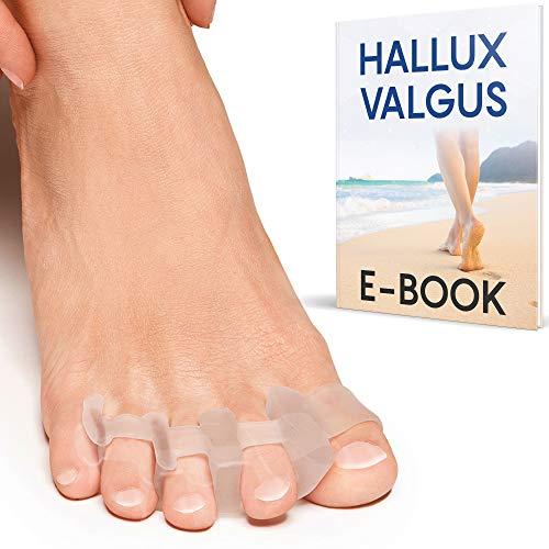 DERMATEST: SEHR GUT - Zehenspreizer Hallux Valgus für alle Zehen - 2 unterschiedliche Paar - Zufriedenheitsversprechen, BPA Frei - Zehentrenner, Halluxschiene