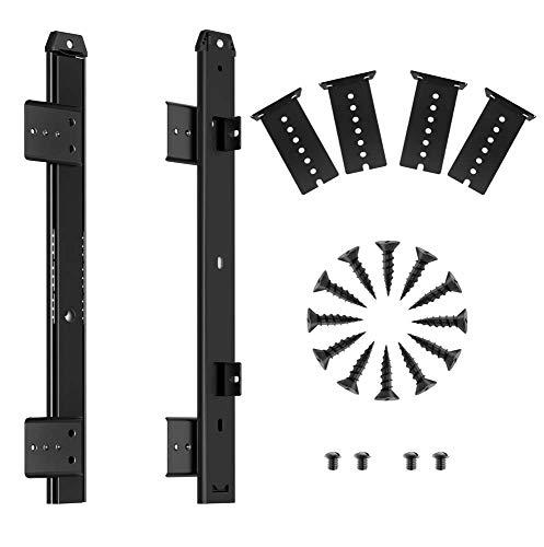 FRMSAET Heavy Duty 305/355/405/455 mm Espesor Construcción de acero Rodamiento de bolas Teclado Guías para cajones Accesorios para bandejas Armario Muebles Herrajes Rieles. (305 mm, negro)