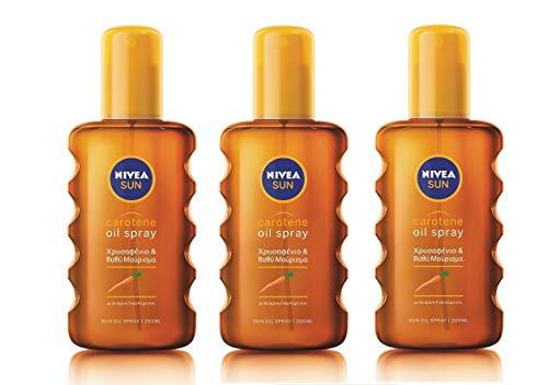 Nivea Sun Pflegendes Öl-Spray LSF 6, 3er Pack (3 x 200 ml)