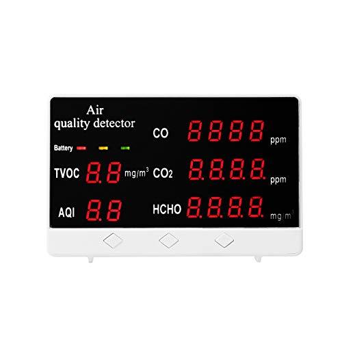 W-L Display Digital Multifuncional for Interiores/Exteriores CO CO2 HCHO COVT Detector de CO2 Medidor de Alta precisión Calidad del Aire Gas Monitor Analizar Monitor de Calidad del Aire