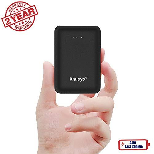 Xnuoyo Chargeur Portable Mini Power Bank 10000mAh Ultra-Compacte Powerbank Compatible avec la Plupart des Téléphones Intelligents