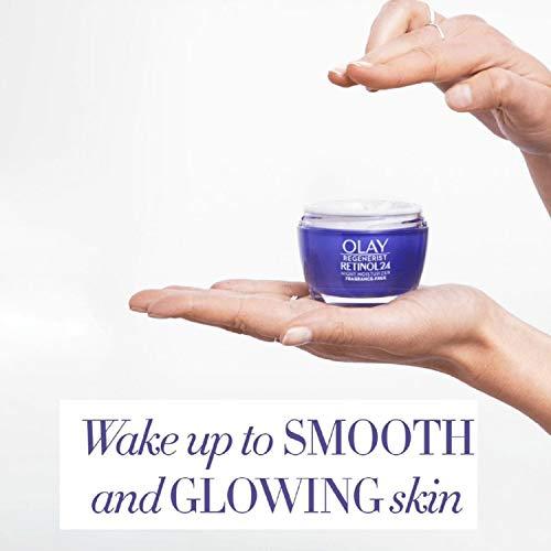 Olay Regenerist Retinol24 Night Face Cream Moisturiser With Retinol and Vitamin B3 50 ml, Fragrance Free