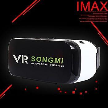 3Dメガネ VRBOX AOOK お手軽な3Dゴーグル 3.5~6インチの携帯に適用 iPhonex/8/7/7PLUS SONY Samsung などに適用 VRBOX二代 (黒)