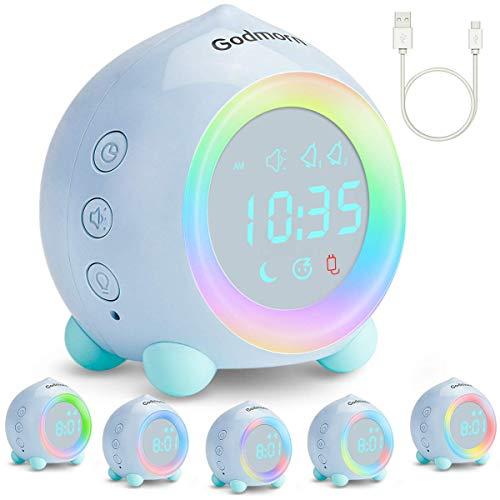 Godmorn Alarm Clocks for Kids Digital Sunrise Simulator Wake Up Light Bedside...