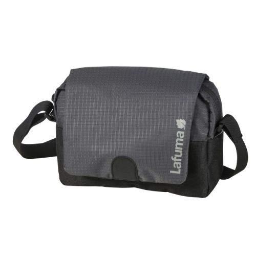 Lafuma Changi, Bolso Bandolera con Correa Desmontable - Diseño sin PFC - Trekking, Viaje, Ciudad Unisex-Adult, Carbon/Black, One Size