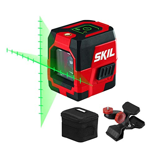 SKIL 65ft. Green Self-leveling Cross Line Laser Level with Projected...