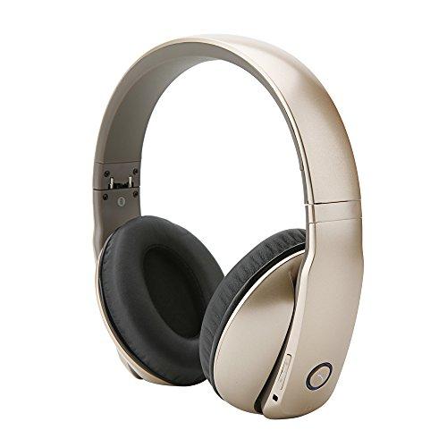 Whitelabel AncStudio Bluetooth-Stereo-Kopfhörer mit aktiver Geräuschunterdrückung NFC Pairing Mikrofon einer Freisprecheinrichtung drahtlose Stereo-Kopfhörer Hallo-Fi-Headset kompatibel mit Bluetooth Aktivieren Smart Phones, Tablets, Computer und Andere Geräte (Gold)