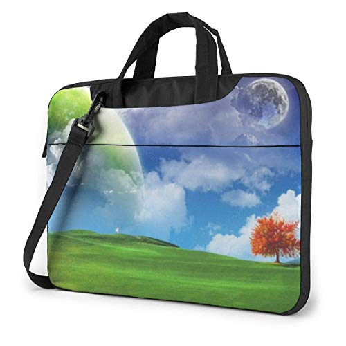 15.6″Lightweight Laptop Notebook Shoulder Backpack Bag Nature Scenery Waterproof PC Briefcase Messenger with Strap