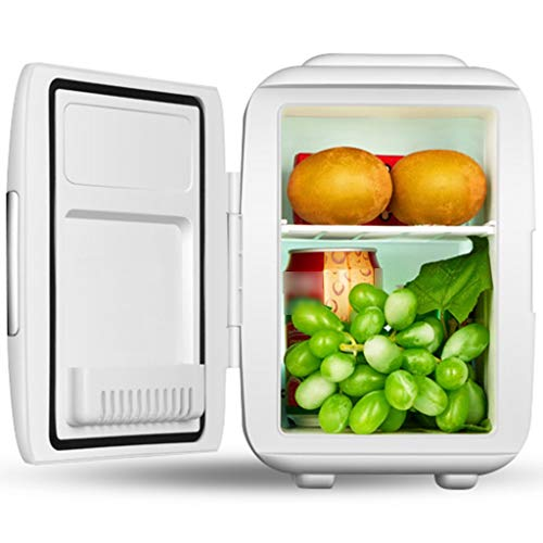 Compact Refrigerators Mini Fridge White,Household Silent Car Freezer,Energy-sav,Used for Camping,car,Fishing,Outdoor,Easy to Carry Camping Refrigeration/Heating Refrigerator