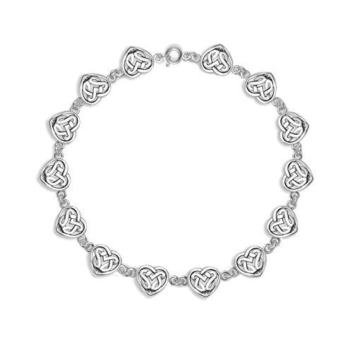 Sterling zilveren Keltisch hart armband 19cm. 3134. Kleiner dan op foto's.