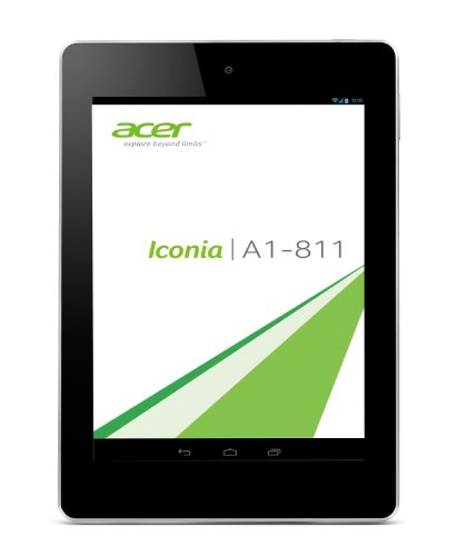 Acer Iconia A1-811 20 cm (7,9 Zoll mit IPS Technologie) Tablet-PC (QuadCore Prozessor 1,2GHz, 1GB RAM, 16GB eMMC, 5MP Kamera, Android 4.2, 3G) weiß