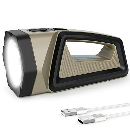 -40% Torcia LED Ricaricabile, USB 2500LM 7200mAh Luce LED Portatile con 8 modalità illuminazione