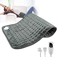 "Heating Pad, Electric Physiotherapy Heating Pads, 12""x24"" Large for Back Pain Auto Shut Off, Moist Heated Pad with..."