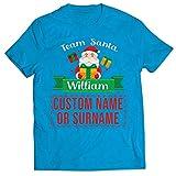 lepni.me Camisetas Hombre Personalizado Nombre Equipo de Еmparejamiento Familia de Santa Claus (XX-Large Azul Multicolor)