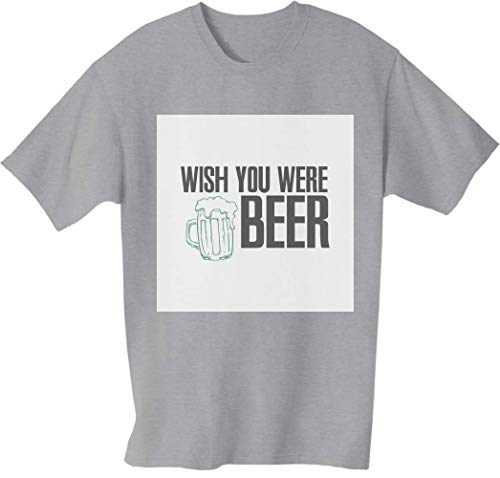 Desconocido Wish You were Here Beer Camiseta para Hombre Large