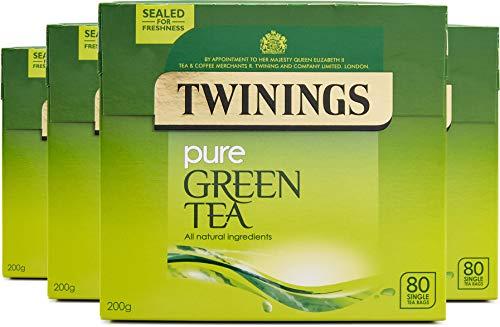 Twinings Pure Green Tea Bags 320 Tea Bags (Multipack of 4 x 80 Bags)