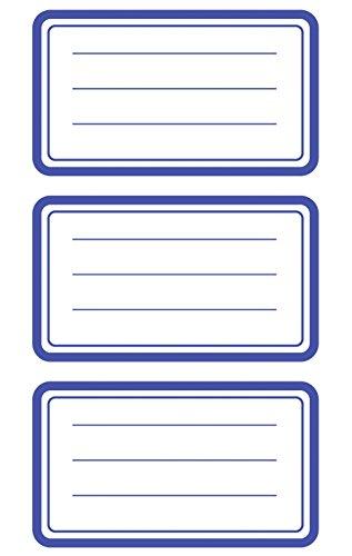 AVERY Zweckform 59286 BuchEtiketten Rahmen (starker Halt) 9 Aufkleber blau
