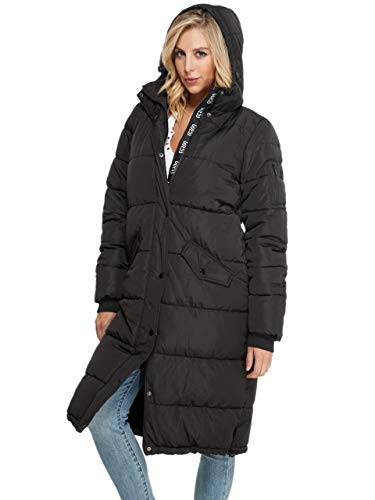 GUESS Factory Women's Dolma Long Winter Hooded Puffer Jacket - coolthings.us