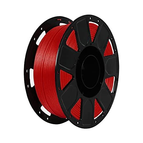LI Q P R Precision PLA 3D filamento de impresora 1.75mm Dureza material consumibles con carrete (rojo)