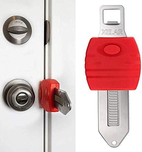 Portable Door Lock Hotel Travel Door Lock AirBnB College Dorm Lock Motel School Lockdown Security product image