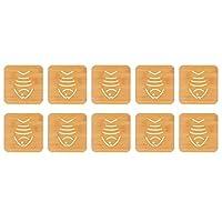 set tappetini sottopentola in bambù da 10 pezzi, sottopentola in legno resistente al calore per pentole e padelle calde, 5,7 x 5,8 pollici(#4)