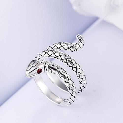 Wicmoon Schlange Modellierung Ringe Öffnung Einstellbar Finger Ring Schmuck (#3)