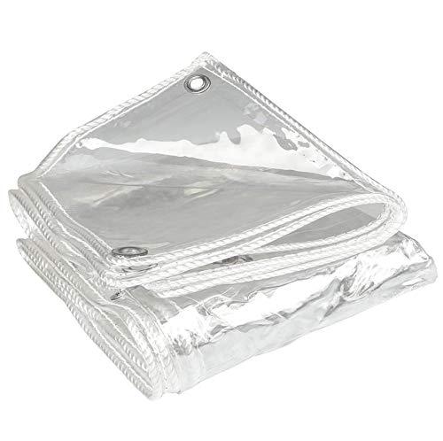 FXPCYGZ Lona Transparente Toldo 0.3mm Alquitranada Tela Exterior Protector, Protector Lona Transparente Cobertizo De Plantas Transmision De Luz Lonas Protector Solar(1.5 * 3m(4.9 * 9.8ft))