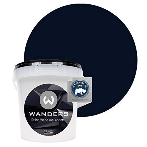 Wanders24® Tafelfarbe (1Liter, Schwarz) Blackboard Paint - Tafellack - abwischbare Wandfarbe - in 20 Farbtönen erhältlich - Made in Germany