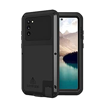 LOVE MEI Military Rugged Case for Samsung Galaxy Note 20 Without Tempered Glass Screen Protector Shockproof Dustproof Scratch Proof Hybrid Metal Silicone Gel Heavy Duty Full Body Cover for Note 20