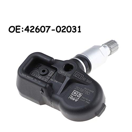 Reifendrucküberwachung Auto for TOYOTA Avensis Auris RAV4 Yaris Verso 42.607-02.031 4260702031 PMV-C210 TPMS Reifendrucksensor (Color : Black)