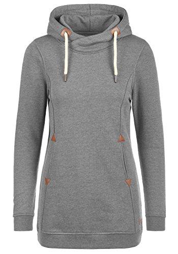 DESIRES Vicky Hood-Long Kapuzenpullover, Größe:M, Farbe:Grey Melange (8236)