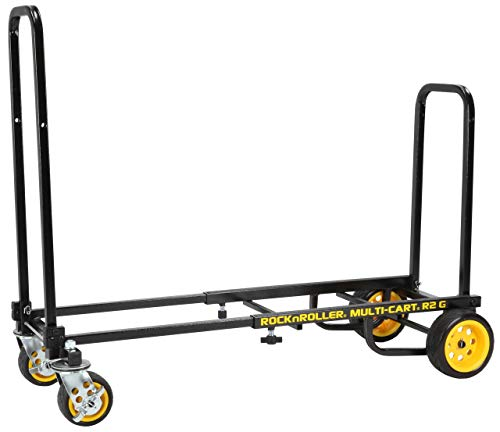 Rock-N-Roller R2G (Micro Ground Glider) 8-in-1 Folding Multi-Cart/Hand Truck/Dolly/Platform Cart/26'...