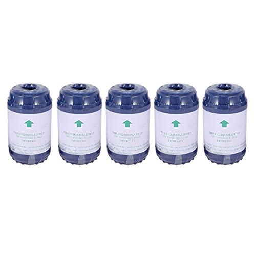 Ctzrzyt 5 Unids/Set 5 Pulgadas Purificador de Agua Udf Cartucho de Filtro de CarbóN Activado Granular Sabor/Olor Filtro de Agua para Osmosis Inversa