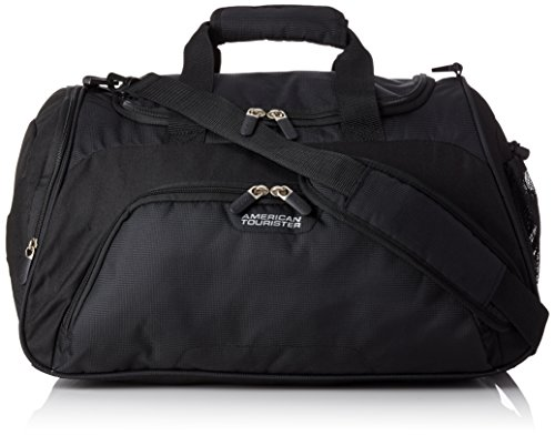 American Tourister - Road quest sportsbag bolso de gimnasio, negro sólido (black), 50 cm, 38 L
