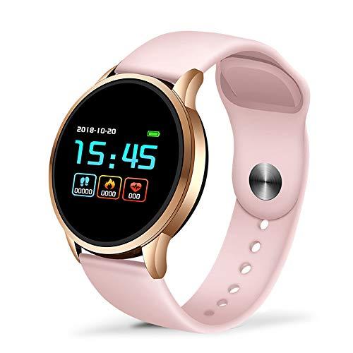 AASSXX Reloj inteligenteFitness Tracker Smart Watch Women Sport Impermeable para iOS Android Phone Smartwatch Monitor de Ritmo cardíaco Funciones de presión ArterialOro Rosa