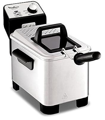 Moulinex Easy Pro 3LFriteuse classique 2 300W 2niveaux de cuisson thermostat réglable 2L 600g Argenté