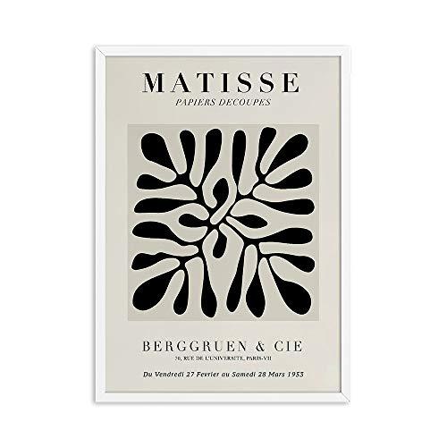 Matisse mujer boceto curva abstracta cartel geométrico lienzo pintura colorida casa sin marco pintura decorativa en lienzo B 60x90cm