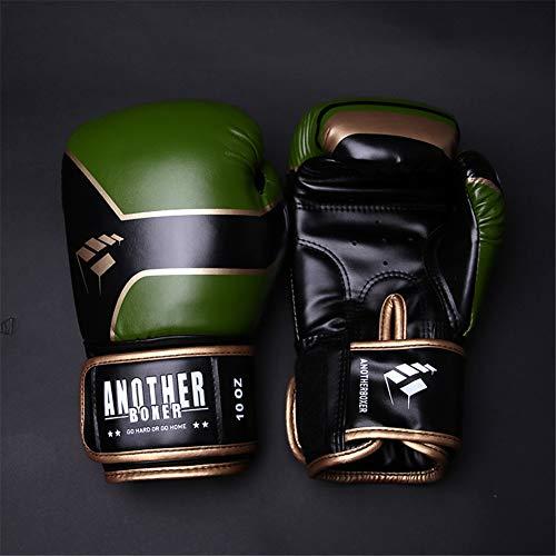 YLYT Boxhandschuhe Beruf Kinder Und Erwachsene Kampf Ausbildung Sparring Muay Thai Kickboxen Übung Fitness Boxsack Mitts Für Männer Und Frauen,Grün,4oz