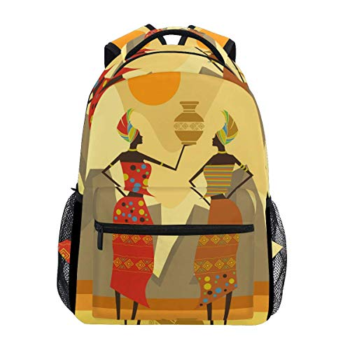 poiuytrew African Womens Backpack Students Shoulder Bags Travel Bag College School Backpacks