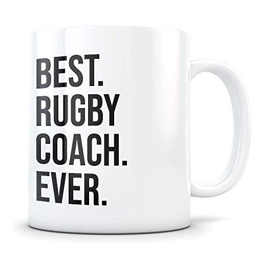 N\A Regalo de Entrenador de Rugby, Taza de Entrenador de Rugby, Entrenador de Rugby Gracias, Mejor Entrenador de Rugby, Taza de café de Entrenador de Rugby, Regalo de Entrenadores de Rugby